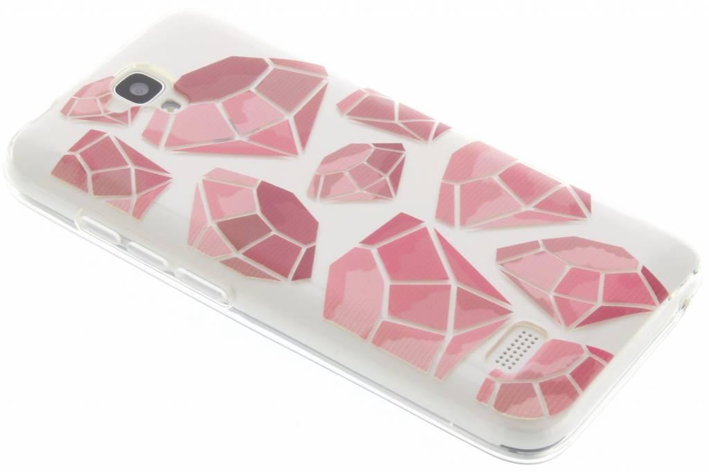 Pink diamonds design TPU hoesje voor de Huawei Y5