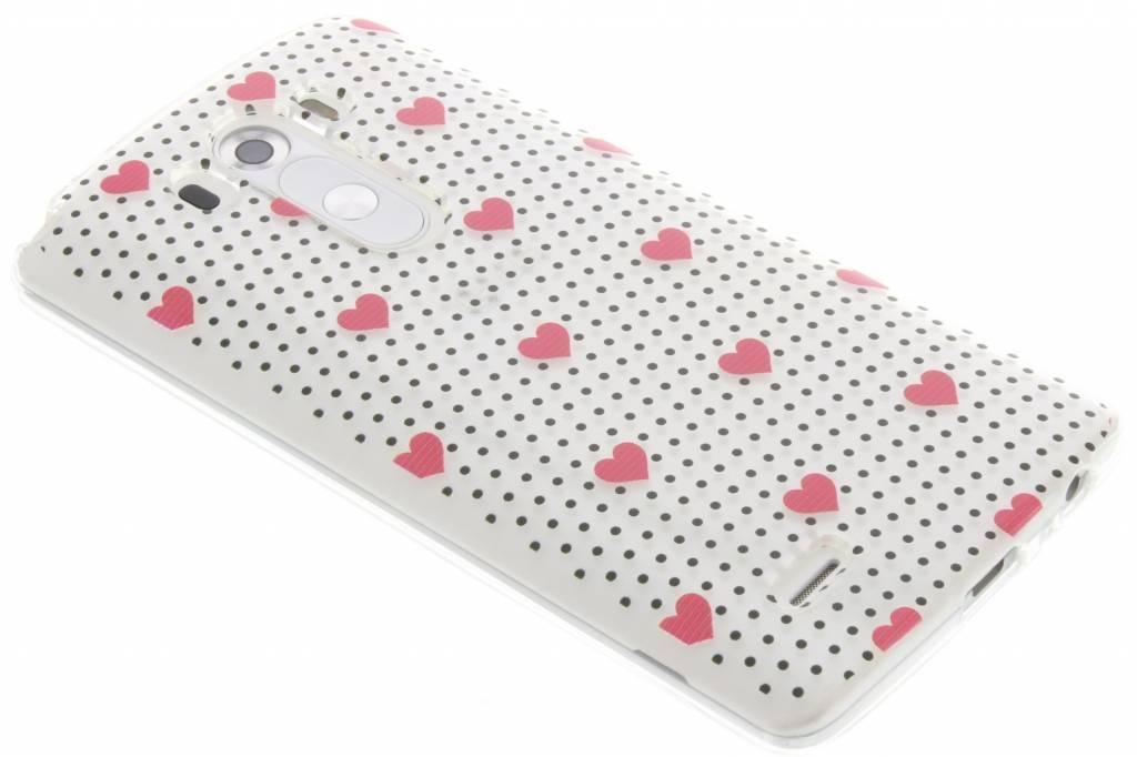 Pink dots and hearts design TPU hoesje voor de LG G3