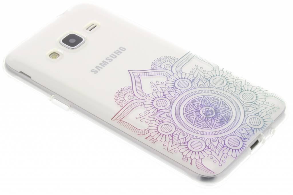 Multicolor mandala design TPU hoesje voor de Samsung Galaxy J3 / J3 (2016)