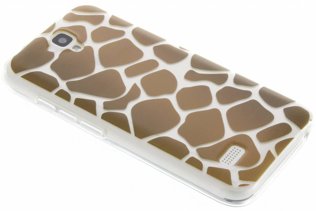 Bruin dierenprint design Giraffe TPU hoesje voor de Huawei Y5