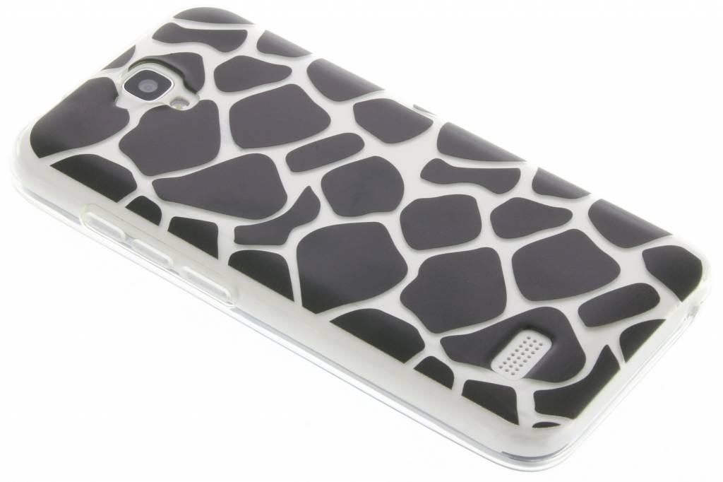 Zwart dierenprint design Giraffe TPU hoesje voor de Huawei Y5