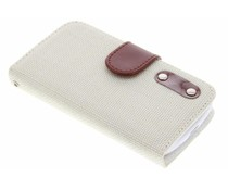 Linnen look TPU booktype hoes Huawei Ascend Y530