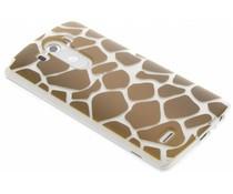 Dierenprint design Giraffe TPU hoesje LG G3