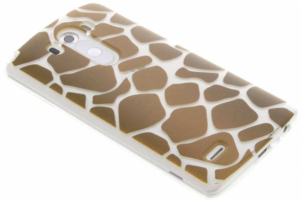 Bruin dierenprint design Giraffe TPU hoesje voor de LG G3