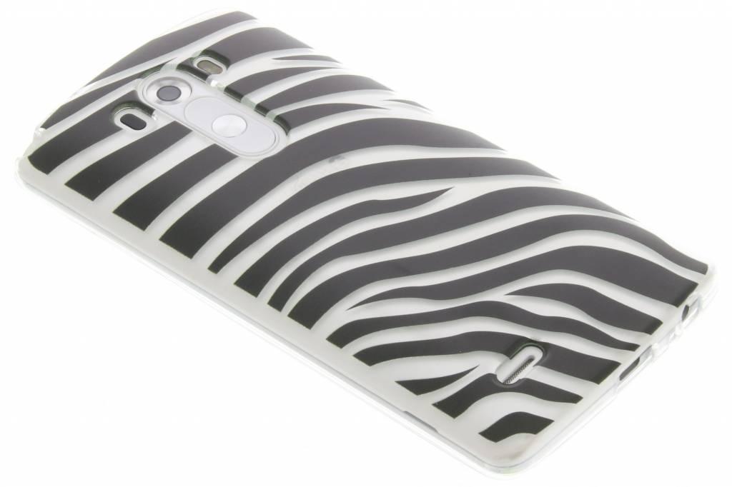 Dierenprint design Zebra TPU hoesje voor de LG G3