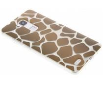 Dierenprint design Giraffe TPU hoesje Huawei Mate 7