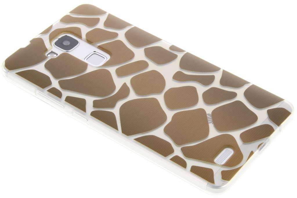 Bruin dierenprint design Giraffe TPU hoesje voor de Huawei Mate 7