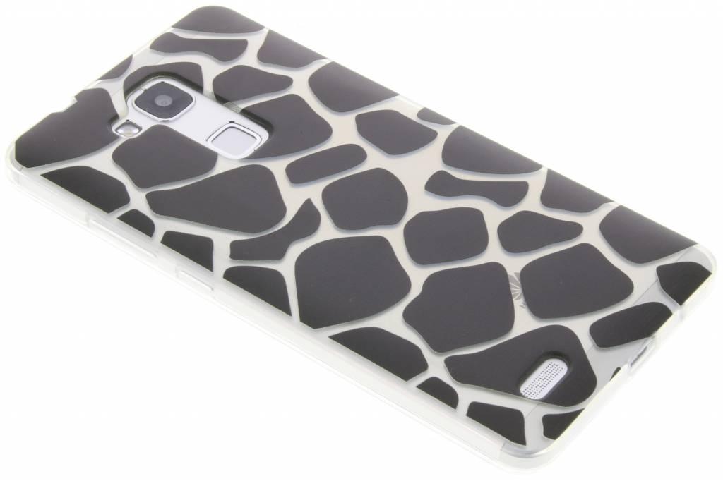 Zwart dierenprint design Giraffe TPU hoesje voor de Huawei Mate 7