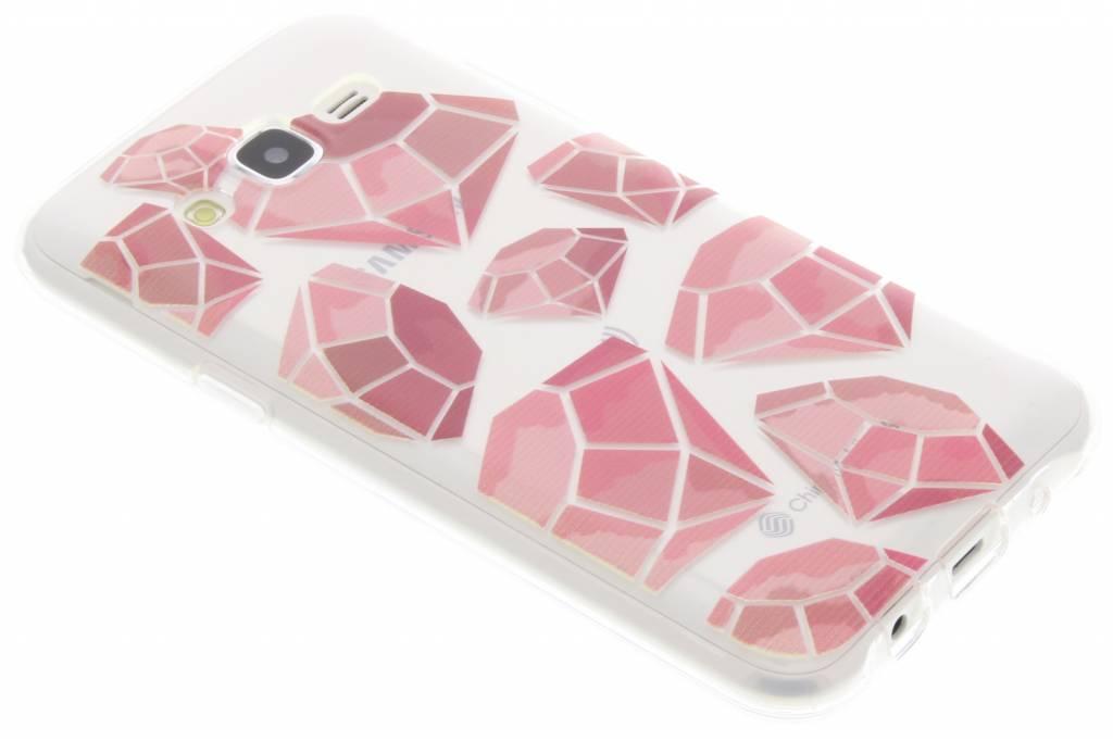 Pink diamonds design TPU hoesje voor de Samsung Galaxy J5