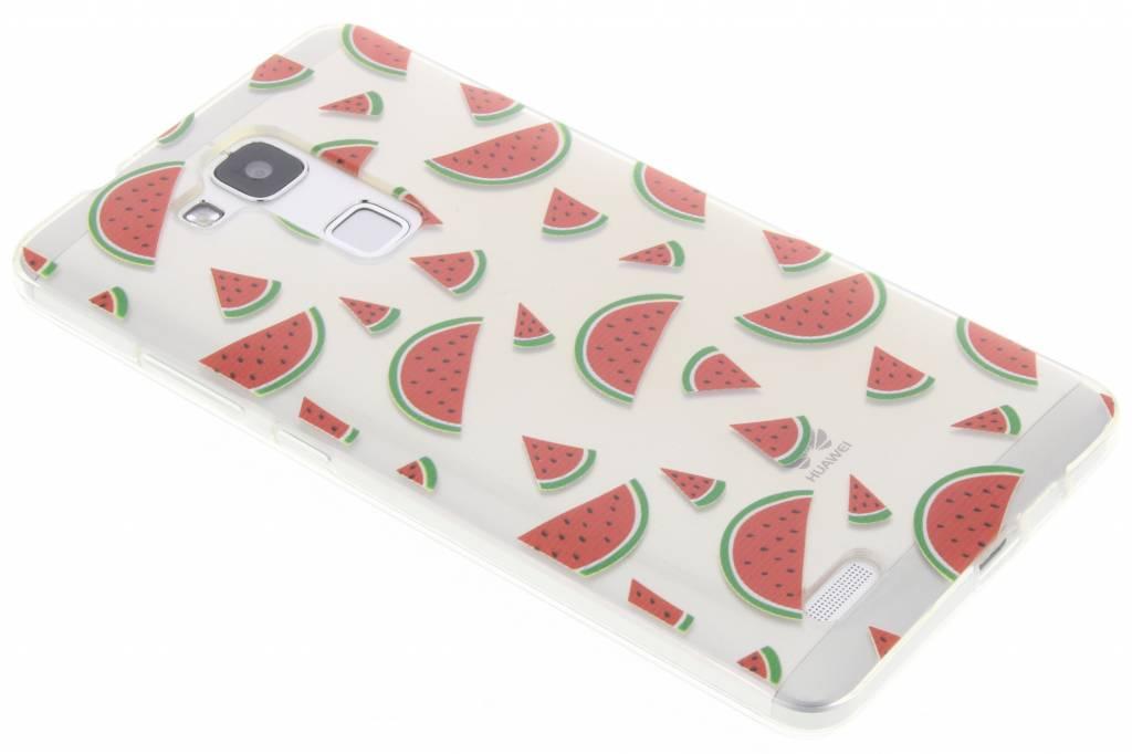 Transparant watermeloen design TPU hoesje voor de Huawei Ascend Mate 7