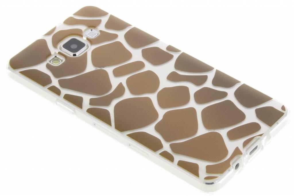 Bruin dierenprint design Giraffe TPU hoesje voor de Samsung Galaxy A5