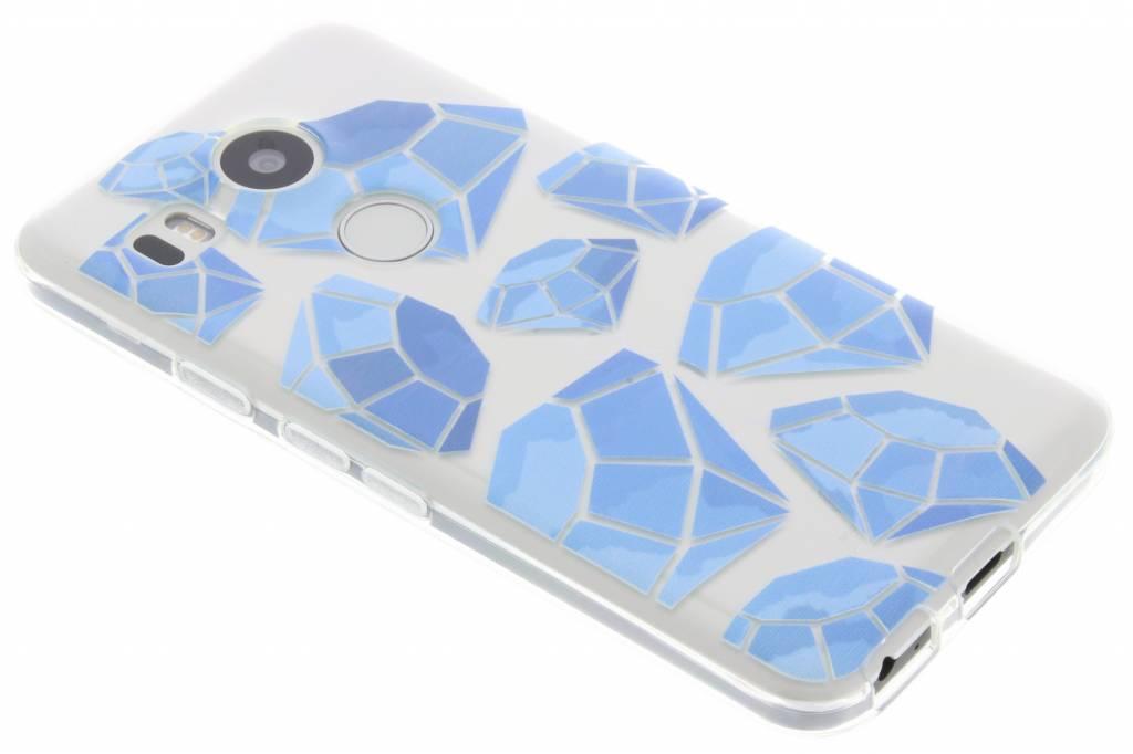 Blue diamonds design TPU hoesje voor de LG Nexus 5X