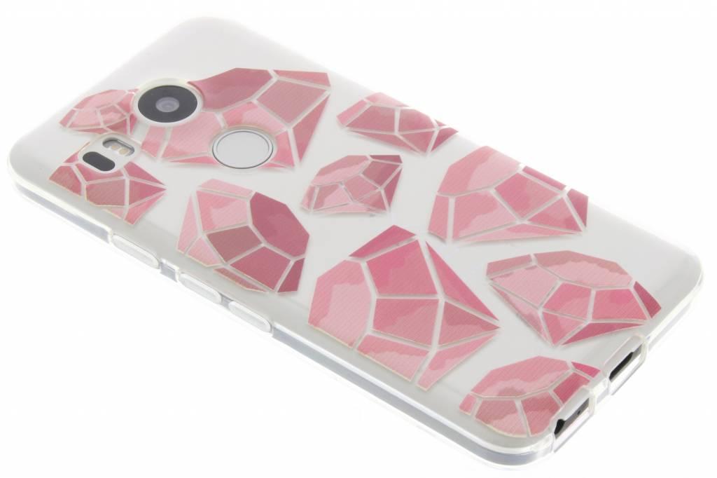 Pink diamonds design TPU hoesje voor de LG Nexus 5X