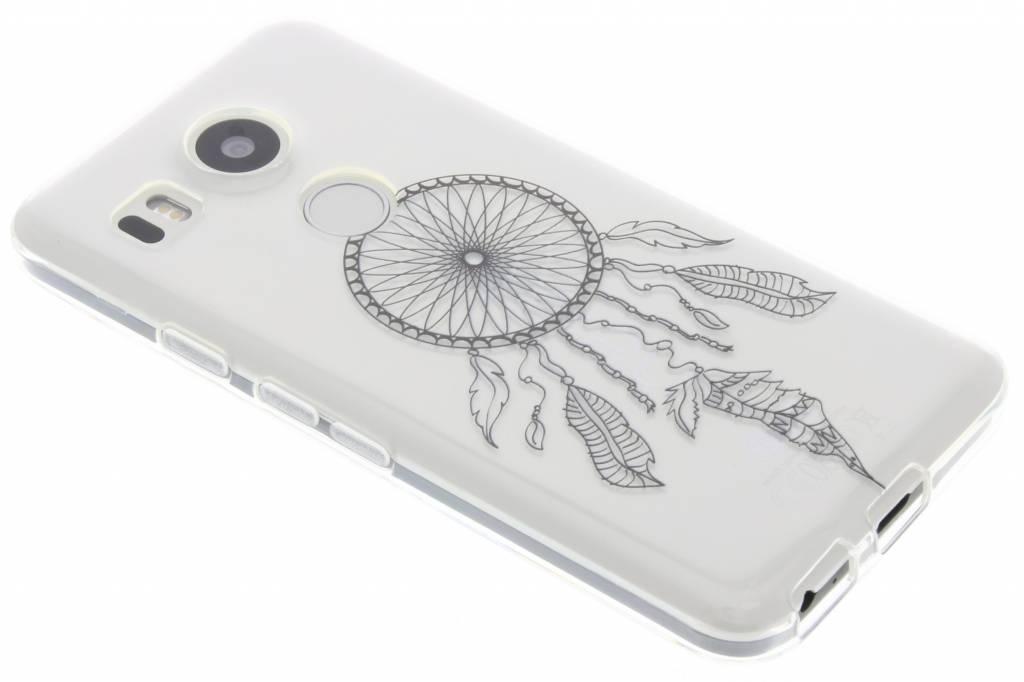 Zwart dromenvanger design TPU hoesje voor de LG Nexus 5X