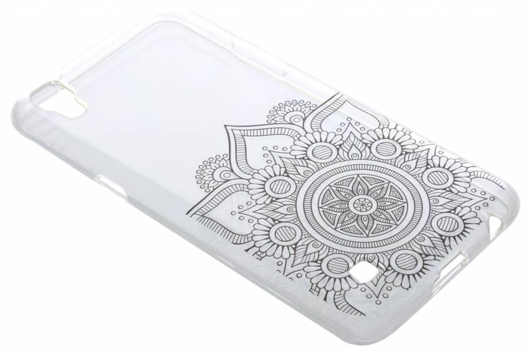 Zwart mandala design TPU hoesje voor de LG X Power