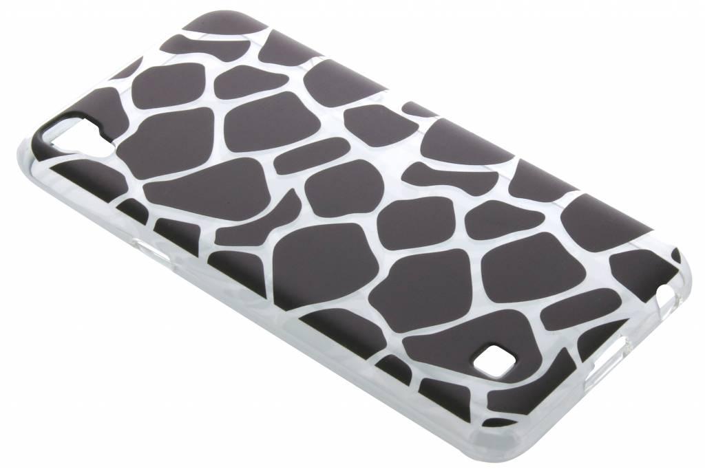 Zwart dierenprint design Giraffe TPU hoesje voor de LG X Power