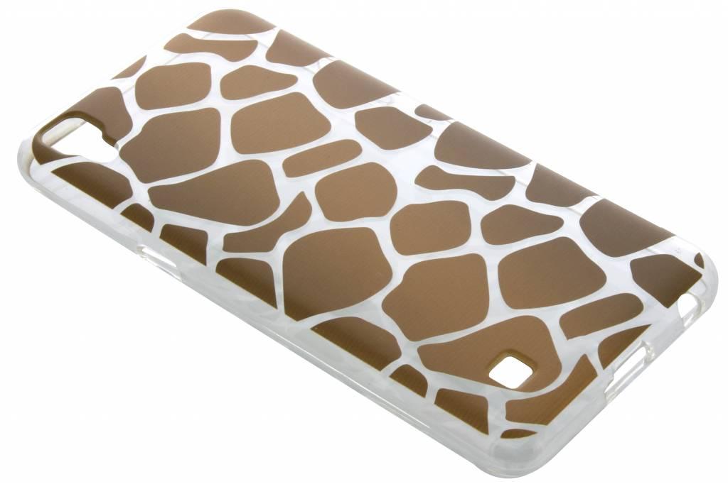 Bruin dierenprint design Giraffe TPU hoesje voor de LG X Power