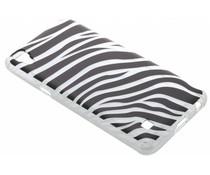 Dierenprint design Zebra TPU hoesje LG X Power