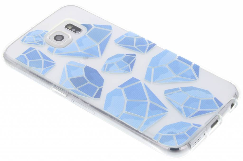 Blue diamonds design TPU hoesje voor de Samsung Galaxy S6