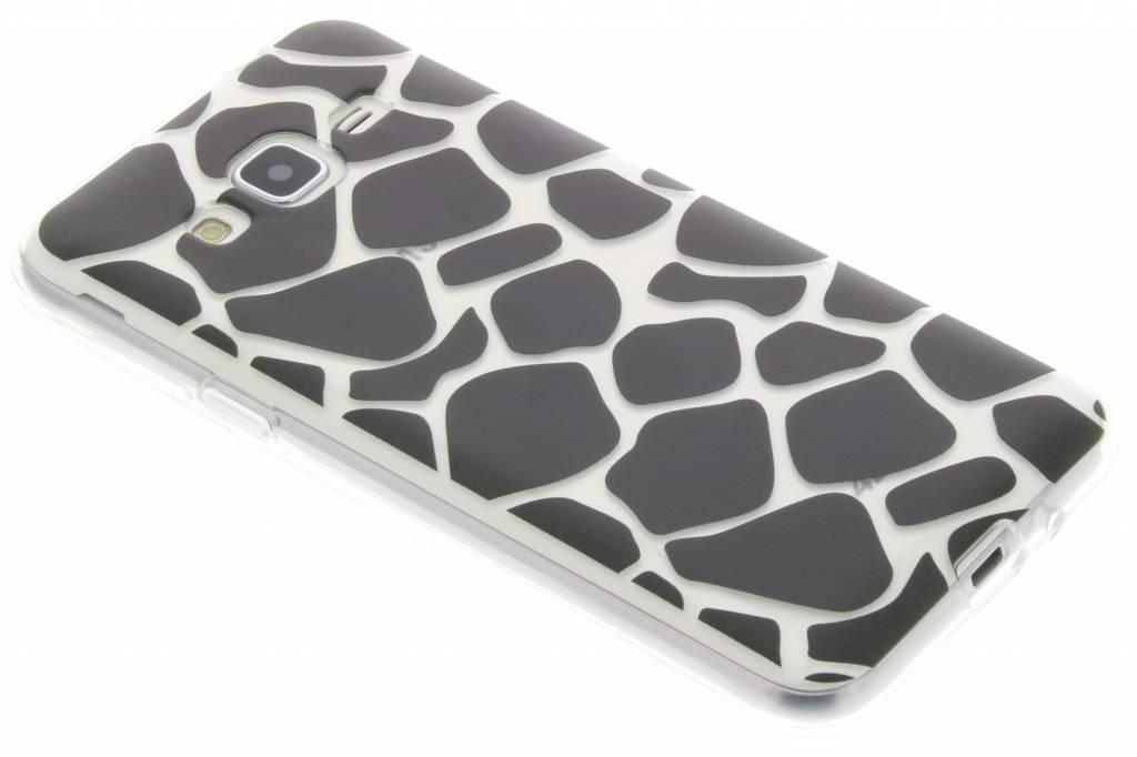 Zwart dierenprint design Giraffe TPU hoesje voor de Samsung Galaxy J3 / J3 (2016)