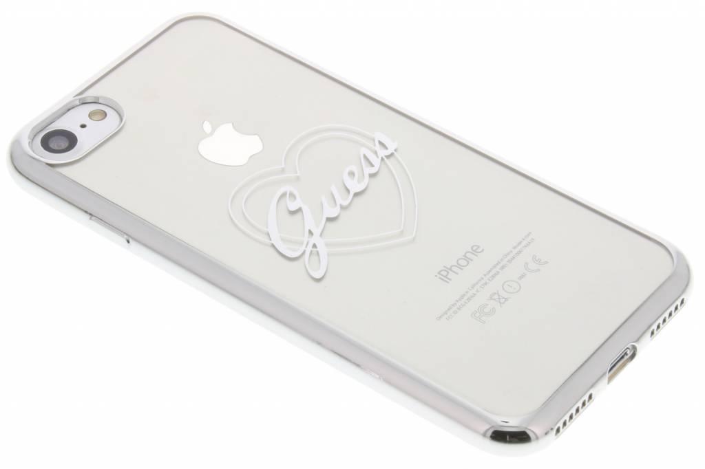 Guess Signature Heart TPU Case voor de iPhone 8 / 7 - Zilver