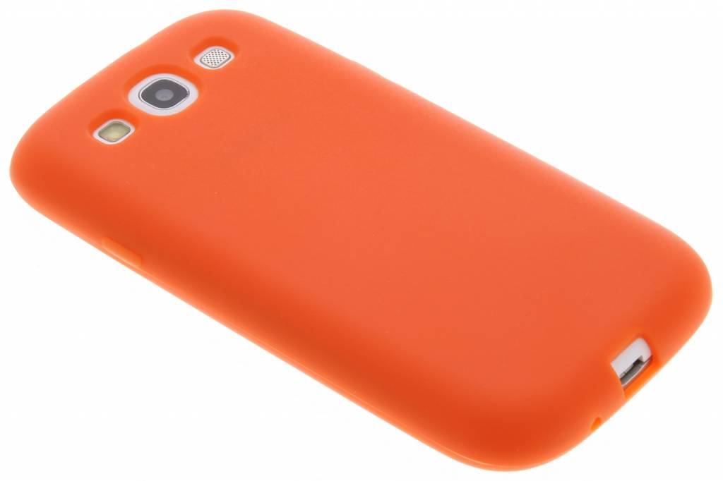 Oranje effen siliconen hoesje voor de Samsung Galaxy S3 / Neo