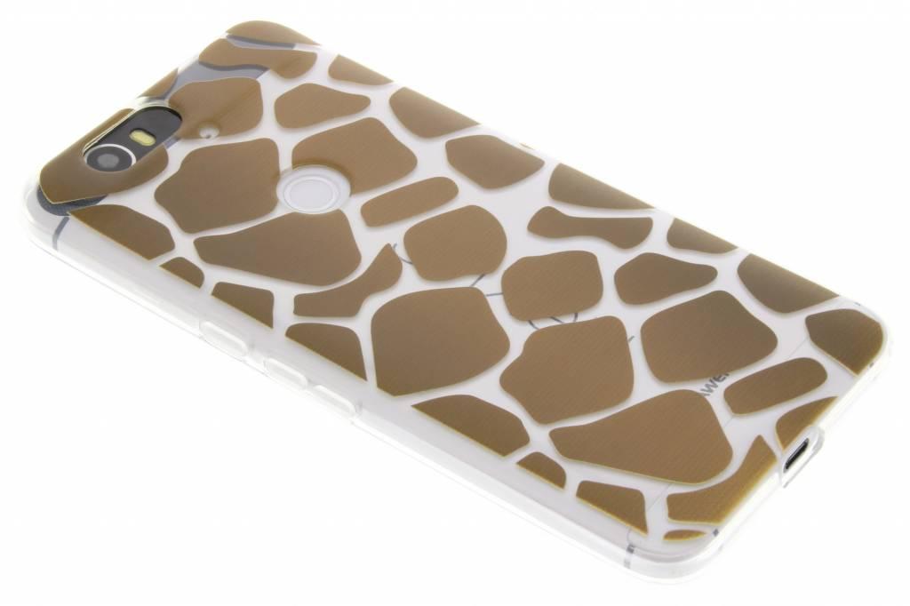 Bruin dierenprint design Giraffe TPU hoesje voor de Huawei Nexus 6P