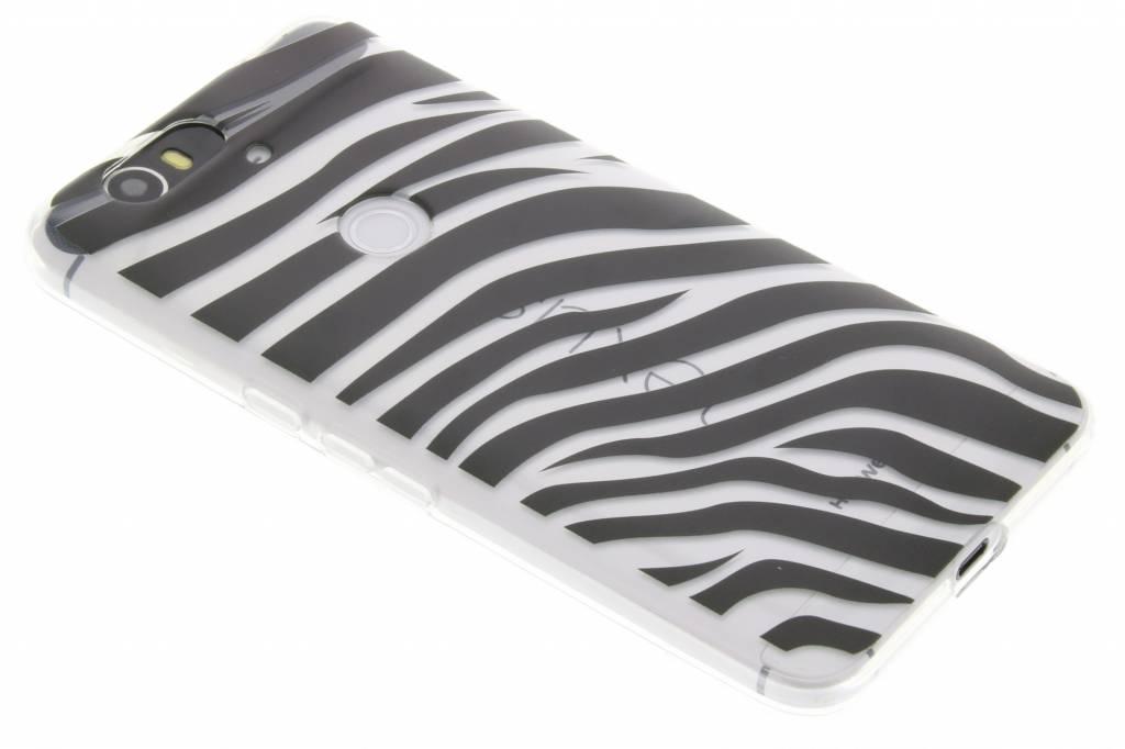 Dierenprint design Zebra TPU hoesje voor de Huawei Nexus 6P