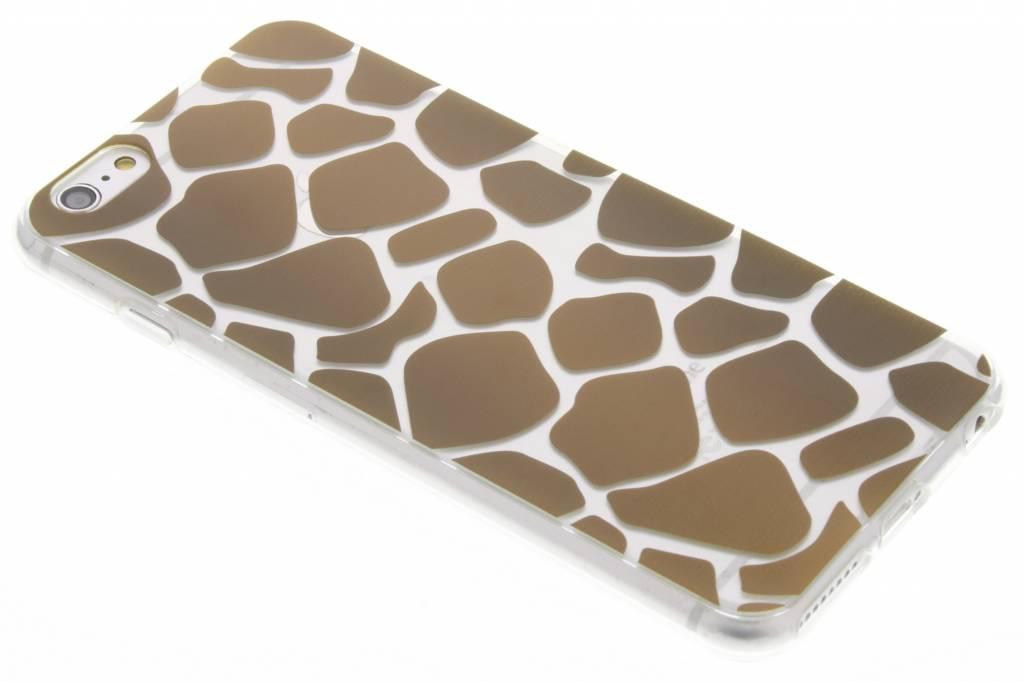 Bruin dierenprint design Giraffe TPU hoesje voor de iPhone 6(s) Plus
