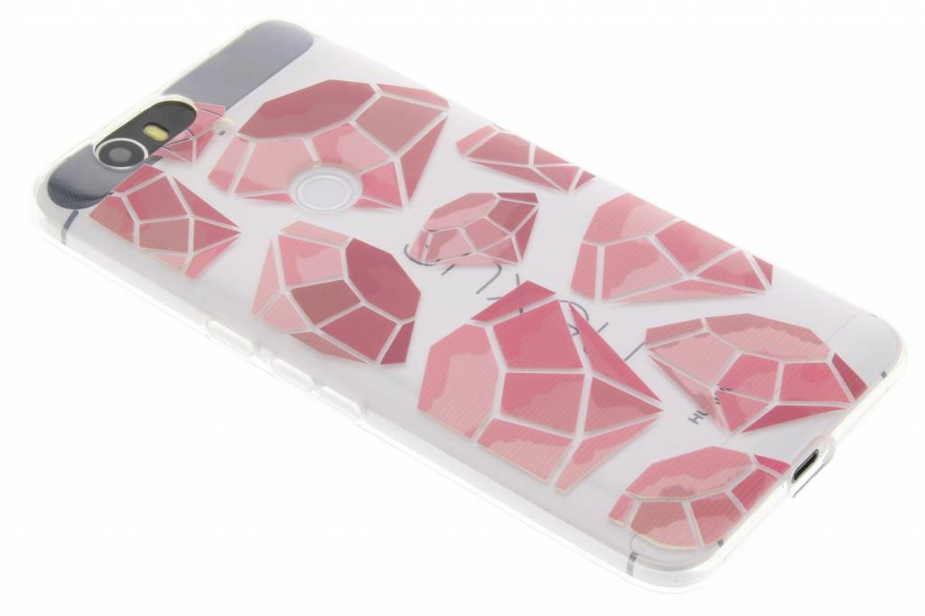 Pink diamonds design TPU hoesje voor de Huawei Nexus 6P