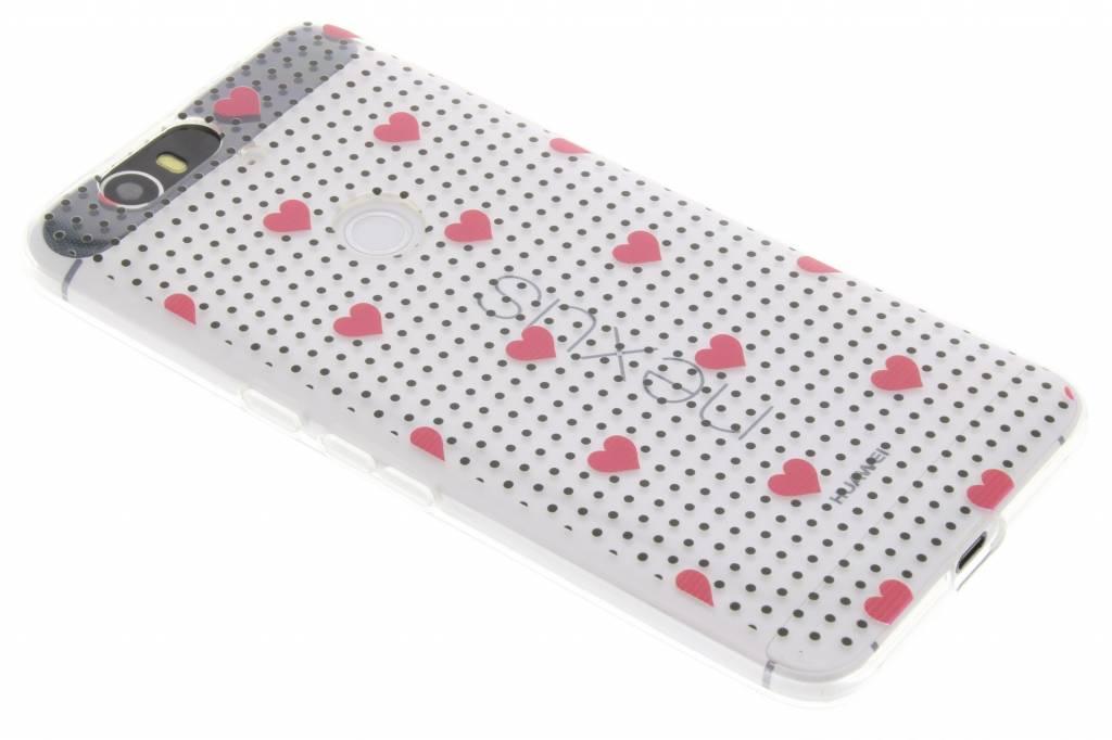 Pink dots and hearts design TPU hoesje voor de Huawei Nexus 6P