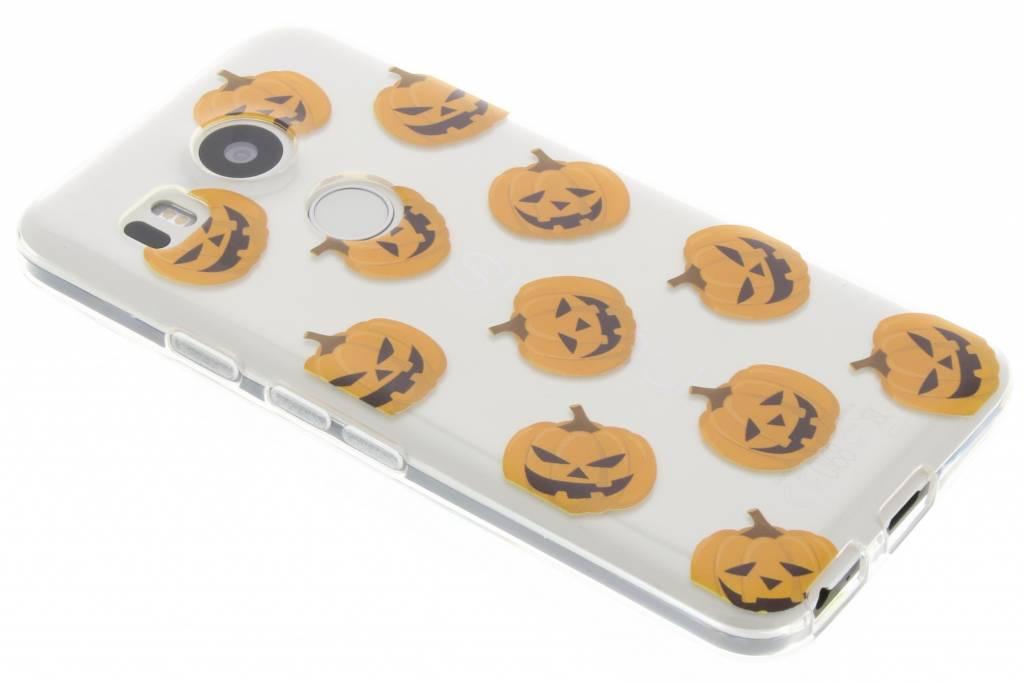 Halloween design pompoentjes TPU hoesje voor de LG Nexus 5X