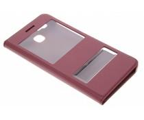 Luxe slim booktype hoes met venster Huawei GR3 / P8 Lite Smart