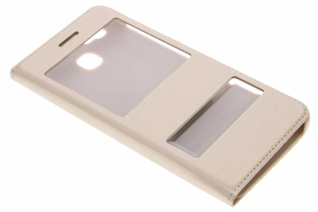 Type De Livre Intelligent Luxe Or Cas Avec Fenêtre Pour Huawei Gr3 / P8 Lite Smart nl35qpzJfj