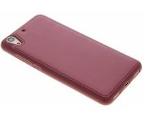Rood metallic lederen TPU case Huawei Y6 2