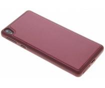 Zwart metallic lederen TPU case Sony Xperia E5
