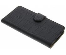 Zwart krokodil booktype hoes Motorola Moto X Play