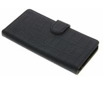 Zwart krokodil booktype hoes LG X Power