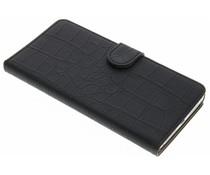 Zwart krokodil booktype hoes Huawei Mate 8