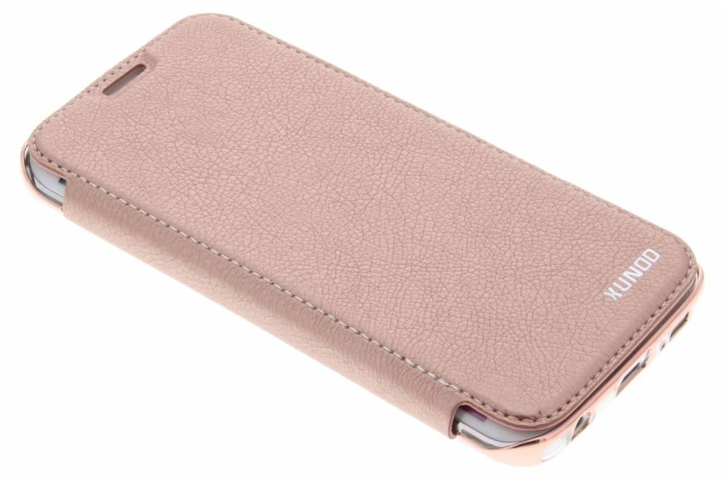 Roze crystal slim book case voor de Samsung Galaxy S6 Edge