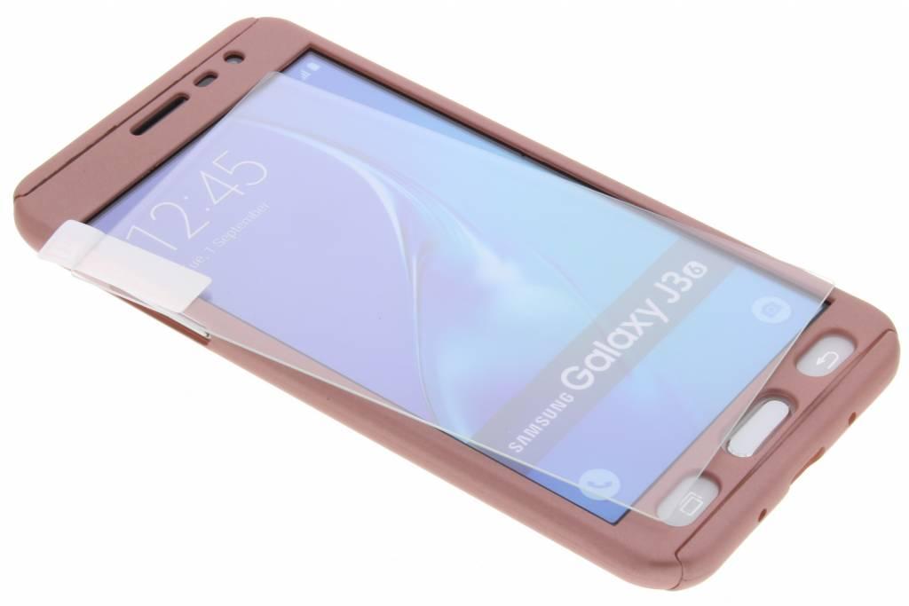 Roze 360° effen protect case voor de Samsung Galaxy J3 / J3 (2016)