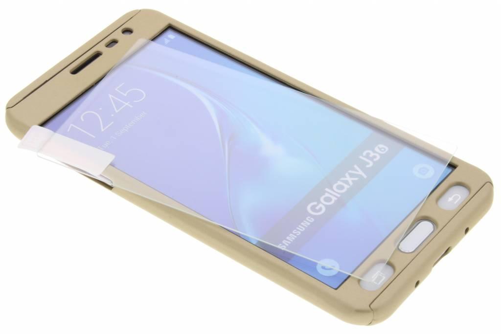 Gouden 360° effen protect case voor de Samsung Galaxy J3 / J3 (2016)