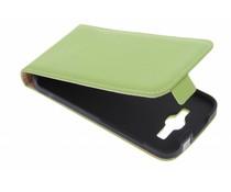 Selencia Luxe Flipcase Huawei Ascend Y540 - Groen