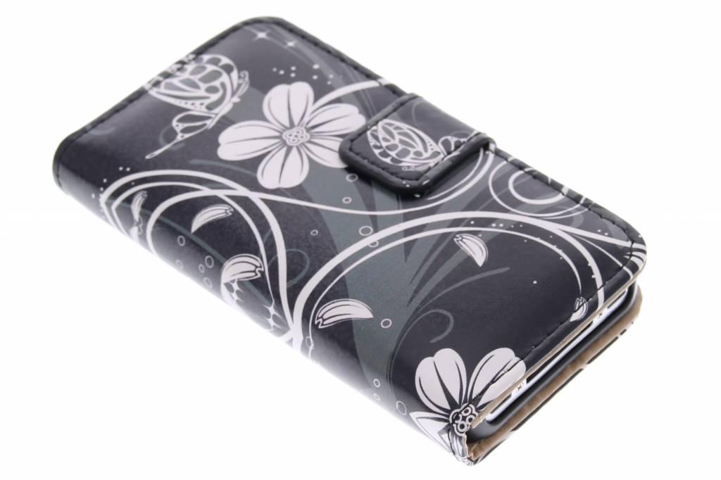 Bloemen design booktype hoes voor de iPhone 4 / 4s