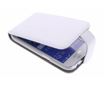 Wit stijlvolle flipcase Samsung Galaxy Ace 4