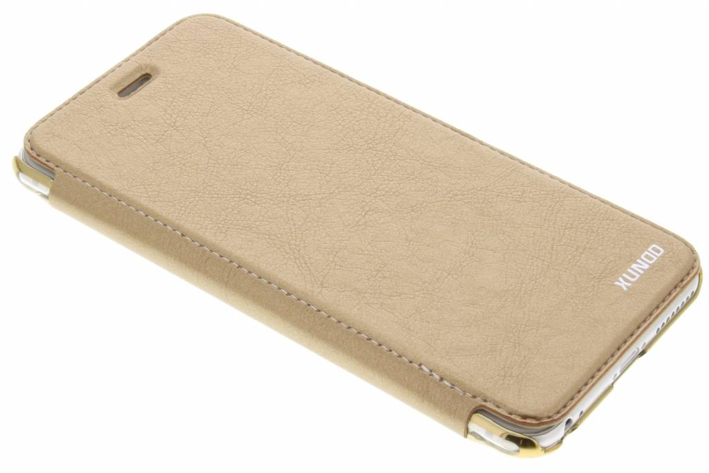 Gouden crystal slim book case voor de iPhone 6(s) Plus
