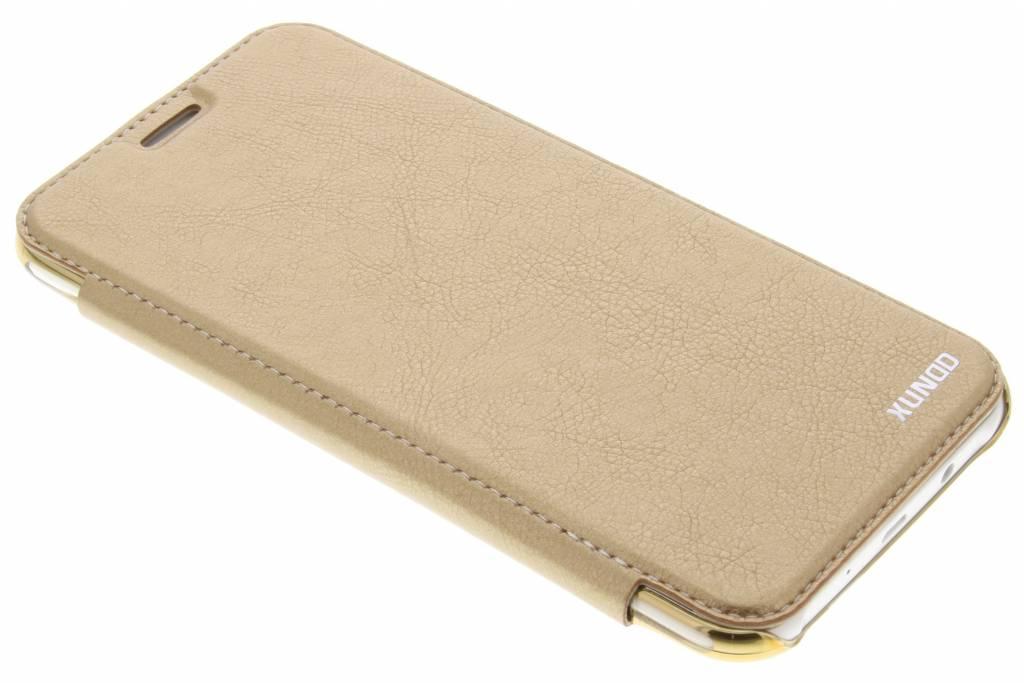 Gouden crystal slim book case voor de Samsung Galaxy J7