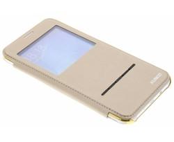 Crystal slim book case met venster Samsung Galaxy J7