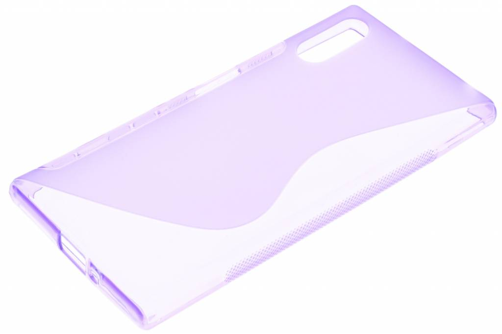 S-violet Ligne Tpu Cas Pour Sony Xperia Xz / Xzs ADGUg43aH