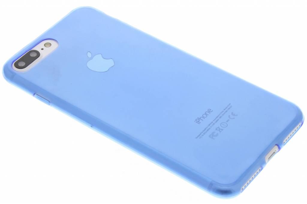 Blauw ultra thin transparant TPU hoesje voor de iPhone 7 Plus